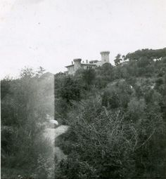 Antiguo Castillo del Parque Güell de Barcelona  en 1958.