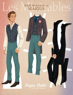 marius, les misérables | paper dolls by cory