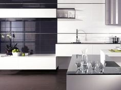 Galaxy Ceramic tiles are perfect for a kitchen wall, especially if you want the monochrome style.