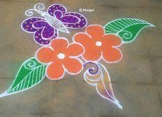 Margazhi Month Kolam – Spiritual and Scientific reasons behind that! Flower Rangoli, Simple Rangoli, Temple India, Rangoli Designs Images, Rangoli With Dots, Amman, Hand Embroidery, Art Pieces, Spirituality