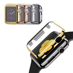 2016 New Colorful Ultrathin Gold Plated Plating Protective Case Cover For Apple Watch 38mm 42mm Shockproof cases