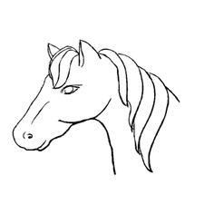 Paard Sinterklaas Kleurplaat Hoofd Horse Head Cake Template Cakepins Com Country Cakes