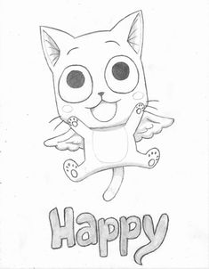 2013 2014 quick sketch of happy from fairy tail colored . Fairy Tail Drawing, Anime Fairy Tail, Natsu Fairy Tail, Fairy Tail Art, Fairy Tales, Fairy Tail Happy, Fairy Tail Love, Fairy Tail Characters, Anime Character Drawing