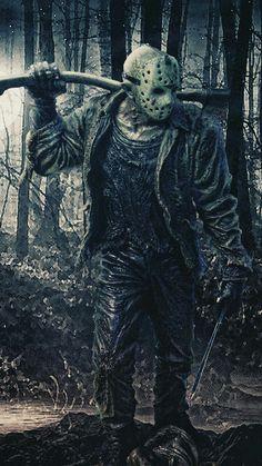 Nightmare on Elm Street Freddy's Revenge Movie Poster Jason Vorhees MoreJason Vorhees . Slasher Movies, Horror Movie Characters, Jason Voorhees Wallpaper, Desenhos Gravity Falls, Friday The 13th Tattoo, Horror Artwork, Funny Horror, Horror Icons, Classic Horror Movies