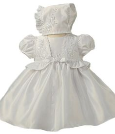 Baby-Girls KID Collection Delicate New Satin Christening Baptism Gown (Dress, Cape & Bonnet) Kid Collection, http://www.amazon.com/dp/B004AQDBNI/ref=cm_sw_r_pi_dp_eJySqb1X3AX0K