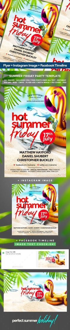 Summer Flyer  Event Flyers Party Flyer And Flyer Template