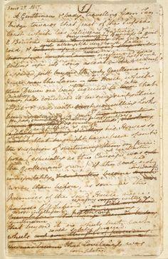 Jane Austen's manuscript