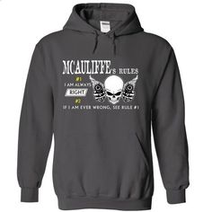 MCAULIFFE RULE\S Team .Cheap Hoodie 39$ sales off 50% o - #shirt for girls #hoodie novios. PURCHASE NOW => https://www.sunfrog.com/Valentines/MCAULIFFE-RULES-Team-Cheap-Hoodie-39-sales-off-50-only-19-within-7-days.html?68278