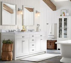 Davis Double Sink Console with Drawers | Pottery Barn
