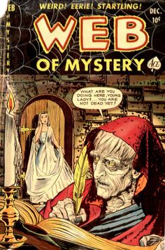 Comic Book Cover For Web of Mystery #6