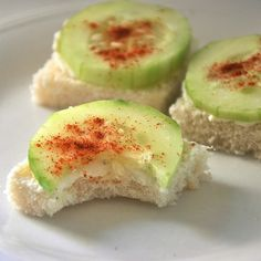 ... | Cucumber Sandwiches, Vegetarian Appetizers and Watermelon Cocktail