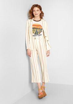 New Opportunity Linen-Blend Pants | ModCloth New Opportunities, Trousers, Pants, Modcloth, Wide Leg, Duster Coat, Comfy, Legs, Fabric