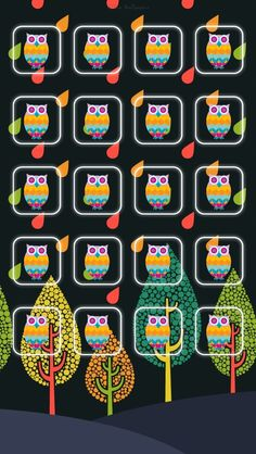 ☯☮ॐ American Hippie Psychedelic Art Design Pattern Wallpaper iPhone ~ Owls