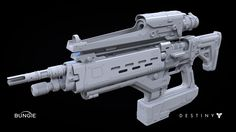 3d Hard Surface modeling - Videogame Destiny:  Fusion Rifle 1A, Milton Cadogan on ArtStation at https://www.artstation.com/artwork/destiny-fusion-rifle-1a