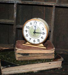Vintage Salute Alarm Clock  Cream Large Numbers by AVintageSeason, $20.00