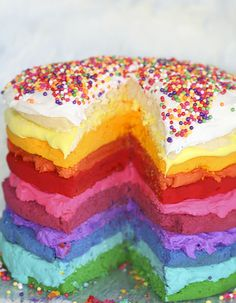 @katep what if this was funfetti and a rainbow cake. what would you do?