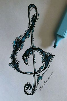 The Music Point - this is gorgeous….though getting a music tattoo when i don. - The Music Point – this is gorgeous….though getting a music tattoo when i don't really sing o - Music Tattoo Designs, Music Tattoos, Tatoos, Music Designs, Tattoo Musik, Dragons Tattoo, Music Drawings, Tattoo Drawings, Art Drawings