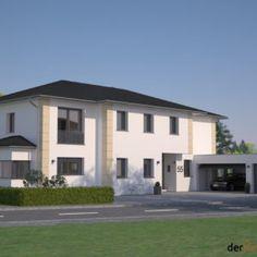 Stadtvilla 224m² | derHausblogger Chalet Design, Style At Home, Bungalow, Garage Doors, Mansions, House Styles, Outdoor Decor, Home Decor, Hani