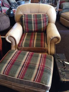 Large Club Chair with Ottoman