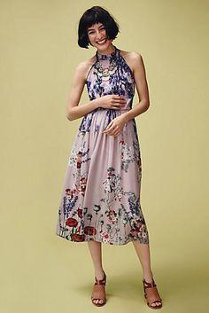 Fantastically illustrated florals. Petaline Midi Dress