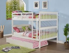 Full Over Full Mission Bunk Bed (white)