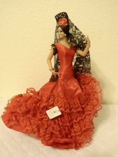 Vintage Collectible Marin Chiclana Flamenco Dancer Doll Made in Spain by Happybeginning on Etsy
