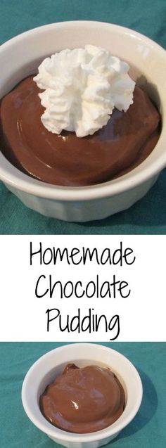 Luscious Deep Chocolate Pudding - deliciously smooth chocolate pudding is so easy to make at home.  This version has a nice deep chocolate flavor