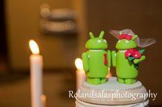 Android wedding cake toppers! #GeekLove