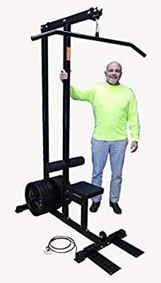 TDS Rated LAT/Row Machine for Standard Plates with Deluxe seat, Covered Foam Knee Holders Pull Up Machine, Lat Pulldown Machine, Flooring On Walls, Ectomorph Workout, Gym Machines, Power Rack, Gym Workout For Beginners, Gym Workouts, Cover