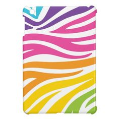 Colorful Rainbow Zebra Print Pattern Gifts Cover For The iPad Mini