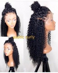 Emily- Brazilian virgin exotic curly 360 lace frontal wig
