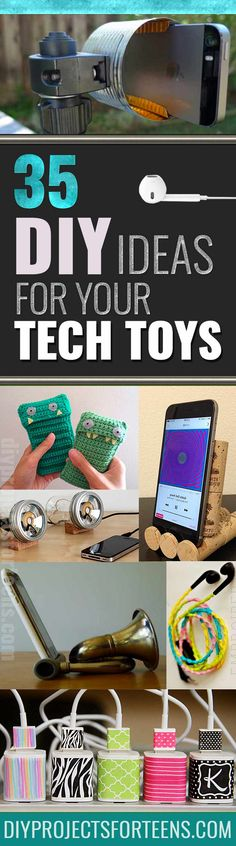 Cool DIY Ideas for Your iPhone iPad Tablets & Phones | Fun Projects for Chargers, Cases and Headphones | Homemade Stands, Speakers, Holders, Armbands and Charging Stations | DIY Projects and Crafts for Teens http://diyprojectsforteens.com/diy-projects-iphone-ipad-phone/
