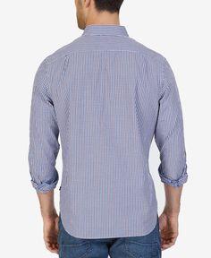 Nautica Men's Classic-Fit Mini Tattersall Shirt