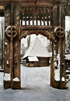 Dimitrie Gusti National Village Museum in Municipiul București, Romania Bulgaria, Wonderful Places, Beautiful Places, Visit Romania, Romania Travel, Carpathian Mountains, Little Paris, Wooden Gates, Eastern Europe
