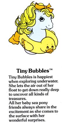My Little Pony Tiny Bubbles fact file ...