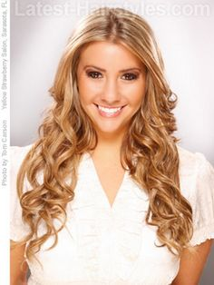 Cute simple hairstyles for long hair #prom hairstyles