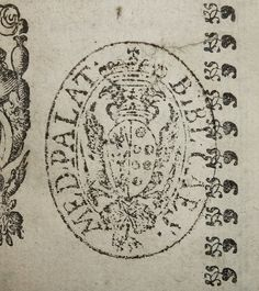 "Stamp of the Imperial Medici Palatine Library (BIBL. CAES. MED. PALATINA""). The Medici Palatine library was the library of the Medici grand dukes, as subsequently inherited by and consolidated with the Library of Grand Duke of Tuscany Francis Stephen, Holy Roman Emperor.  Today, the collections are part of the Biblioteca medicea laurenziana. Established heading: Biblioteca medicea laurenziana  Penn Libraries call number: IC6 Al536 605r All images from this book"