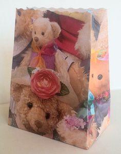 Cute teddy bear bags for the holidays.