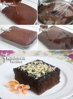 Patisserie Wet Cake Recipe with Tea Easy Cake Recipes, Cupcake Recipes, Patisserie Cake, Turkish Sweets, Recipe Mix, Pudding Cake, Moist Cakes, Turkish Recipes, Sweet Cakes
