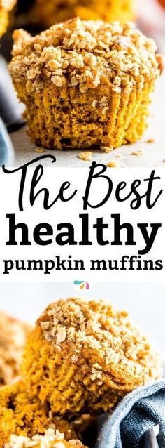 These are the BEST healthy pumpkin muffins out there! They are incredibly easy to put together and they turn out so moist with ONE ENTIRE can of pumpkin in them! The recipe uses all whole wheat flour and using the brown sugar is optional, so you can make