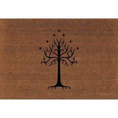 Tree of Gondor Lord of the Rings Tolkien Door Mat Coir Doormat Large... ($39) ❤ liked on Polyvore featuring home, rugs, brown, floor & rugs, home & living, brown rug, painted tree, coir outdoor mats, tree mat and coir welcome mat