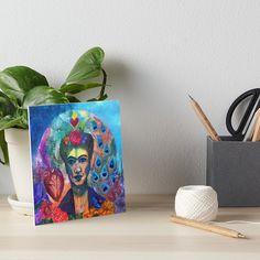 'Ode to Frida' Art Board Print by Ria Rademeyer Velcro Dots, Watercolor Texture, Art Boards, Print Design, Presentation, Prints, Printed, Type Design, Art Print