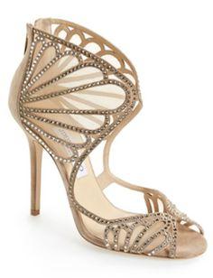 stunning Jimmy Choo vintage glam sandals #AEDreamwedding