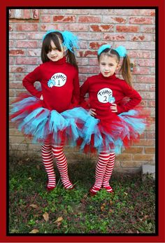 DIY Thing 1 Thing 2 u003d) Halloween costume for the twins  sc 1 st  Pinterest & Thing 1 and Thing 2 tulle headband | Dr Seuss | Pinterest | Costumes ...