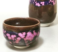 Floating petals cups from Shinemon kiln #ceramics #teacup #sencha #guinomi…