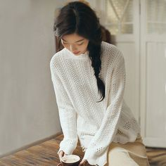 INMAN 2017 Women's Autumn New solid color straight cylinder long sleeves  Knitted Pullovers  #INMAN #sweaters #women_clothing #stylish_sweater #style #fashion