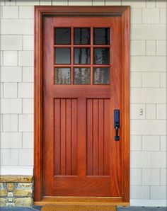 tiny cabin to craftsman bungalow front doors douglas fir and