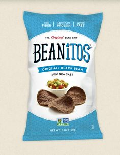 Beanitos are all natural snack chips & puffs made from beans – high in healthy fiber & protein – and they contain NO gluten, corn, trans fat, MSG, or GMOs. Get your bag for any occasion today! High Protein Vegan Snacks, Healthy Snacks, Smart Snacks, Delicious Snacks, Healthy Eating, Healthy Recipes, Bean Chips, Healthy Fiber, Gluten Free Snacks