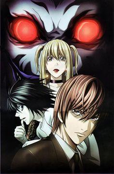 Anime: Death note Personajes: Misa, L y Light