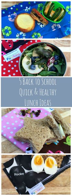 5 Quick & Healthy Lunch Ideas For Back To School + cute reusable cloth napkins